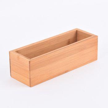 Aufbewahrungsbox Kiste Bambus 23x8x7cm – Bild 1