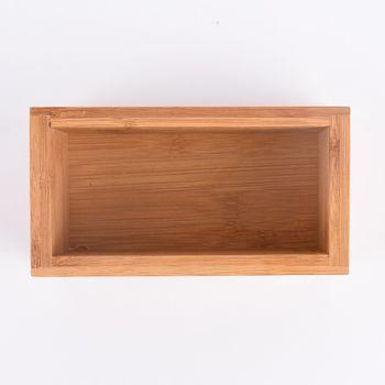 Aufbewahrungsbox Kiste Bambus 15x8x7cm – Bild 3