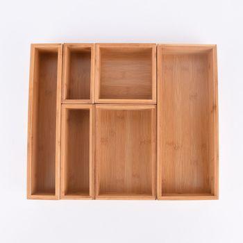 Aufbewahrungsbox Kiste Bambus 15x8x7cm – Bild 5
