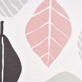 SCHÖNER LEBEN. Kissenhülle Blätter weiß pastell 30x50cm – Bild 3