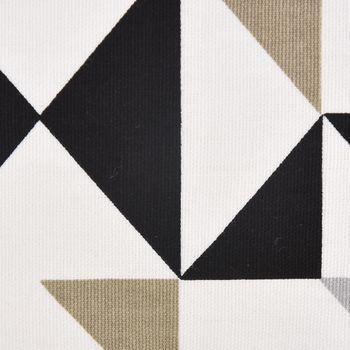 SCHÖNER LEBEN. Kissenhülle Dreiecke weiß grau khaki schwarz 30x50cm – Bild 3