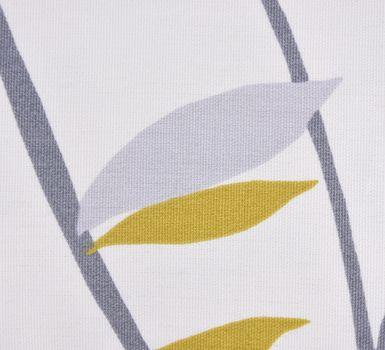 SCHÖNER LEBEN. Kissenhülle Coco Lemonade Blätter grau grün gelb 30x50cm – Bild 4