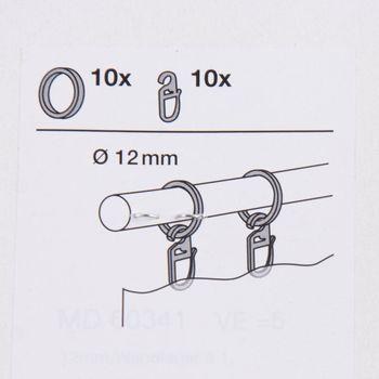 Serie Malibu Flachringe inkl Haken 10 Stück Ø12mm edelstahl-optik – Bild 3