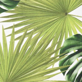 SCHÖNER LEBEN. Kissenhülle Palmen Blatt grün weiß 30x50cm – Bild 3
