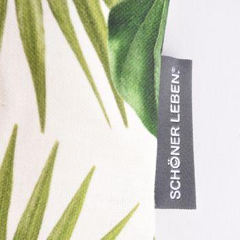 SCHÖNER LEBEN. Kissenhülle Palmen Blatt grün weiß 30x50cm – Bild 4