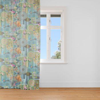 SCHÖNER LEBEN. Samt-Vorhang Vorhangschal mit Smok-Schlaufenband Italian Velvet Samt Fantasie 245cm oder Wunschlänge – Bild 2