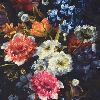 SCHÖNER LEBEN. Vorhang Vorhangschal mit Smok-Schlaufenband Digitaldruck Blumen 245cm oder Wunschlänge – Bild 3