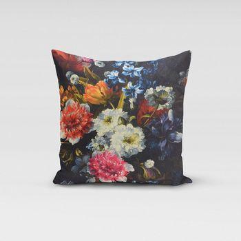 SCHÖNER LEBEN. Kissenhülle Blumen Digitaldruck 50x50cm – Bild 1