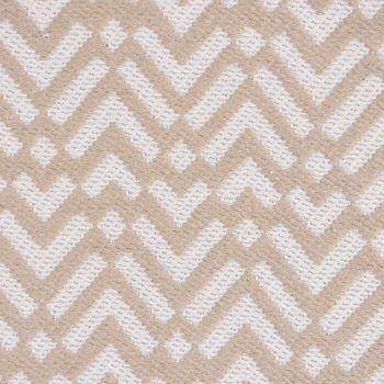 Dekostoff Jacquard-Stoff Strukturstoff abstrakt creme grau 270cm Breite – Bild 1