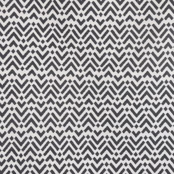 Dekostoff Jacquard-Stoff Strukturstoff abstrakt creme schwarz 270cm Breite – Bild 2
