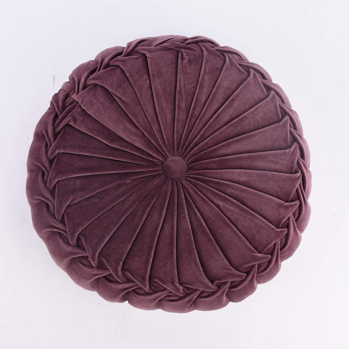 Kissen Samtkissen rund violett 40x12cm