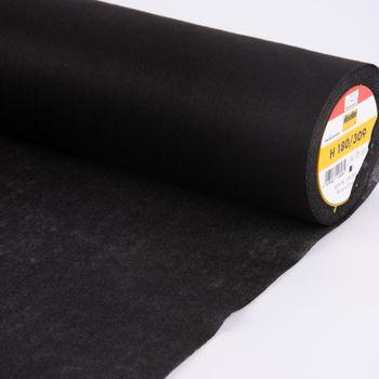 Vlieseline Bügelvlies H180 schwarz  90cm Breite – Bild 3