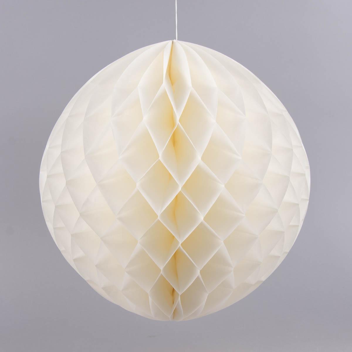wabenball papier wei 40x40cm inspirationen partywelten partybuffet. Black Bedroom Furniture Sets. Home Design Ideas