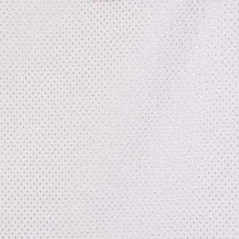 DekostoffTischwäschestoff Jacquard-Stoff Double Face Punkte Ecru Lurex Silberglanz 280cm Breite – Bild 3