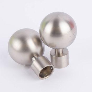 Serie Boston Endstücke Ball groß 2 Stück Ø16mm edelstahl-optik – Bild 1