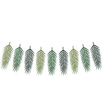 Girlande DIY Palmblätter grün 9 Anhänger Länge: 1,25m – Bild 1