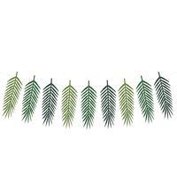 Girlande DIY Palmblätter grün 9 Anhänger Länge: 1,25m