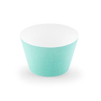 Muffin Cupcake Förmchen mintgrün 6 Stück 5x7,5x5cm – Bild 1