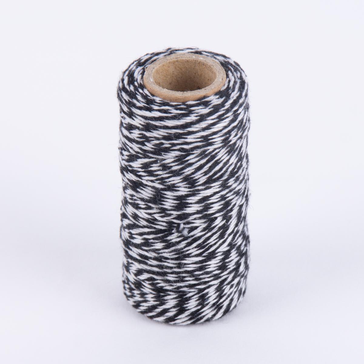 b ckergarn geschenk garn zweifarbig schwarz wei 50m kreativbedarf basteln malen. Black Bedroom Furniture Sets. Home Design Ideas