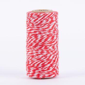 Bäckergarn Geschenk Garn zweifarbig rot weiß 50m – Bild 2