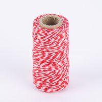 Bäckergarn Geschenk Garn zweifarbig rot weiß 50m