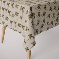 SCHÖNER LEBEN. Tischdecke Leinenoptik Palme beige grün braun eckig in verschiedenen Größen