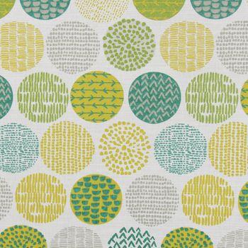 Dekostoff Baumwollstoff Casa Cactus creme Kreise grün taupe Tönen verschiedene Motive 1,4m Breite – Bild 7