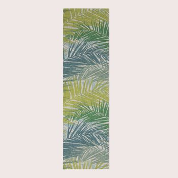 Dekostoff Jungle Aruba Palmenblätter petrol grün Töne 1,45m Breite – Bild 15
