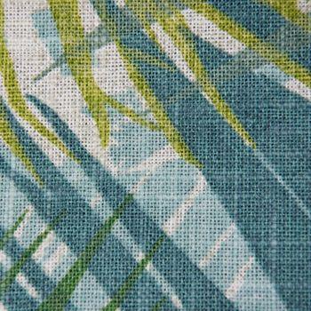 Dekostoff Jungle Aruba Palmenblätter petrol grün Töne 1,45m Breite – Bild 7