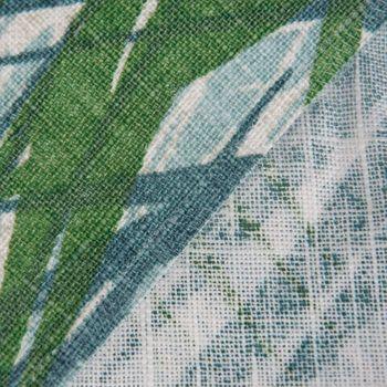 Dekostoff Jungle Aruba Palmenblätter petrol grün Töne 1,45m Breite – Bild 9