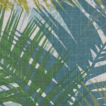 Dekostoff Jungle Aruba Palmenblätter petrol grün Töne 1,45m Breite – Bild 10