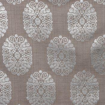 SCHÖNER LEBEN. Tischdecke Ornament Metallicprint taupe silberfarbig eckig in diversen Größen – Bild 3