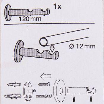 Serie Malibu Doppelträger geschlossen Ø12mm edelstahl-optik – Bild 5