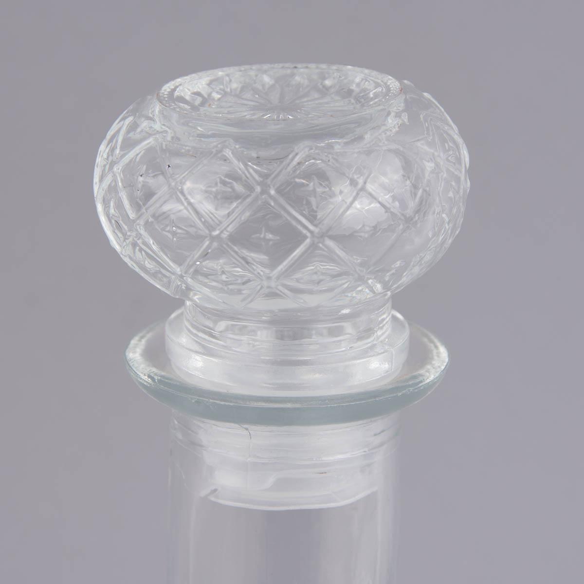 deko flasche mit deckel flacon glas 11x27cm wohnen badaccessoires badaccessoires. Black Bedroom Furniture Sets. Home Design Ideas