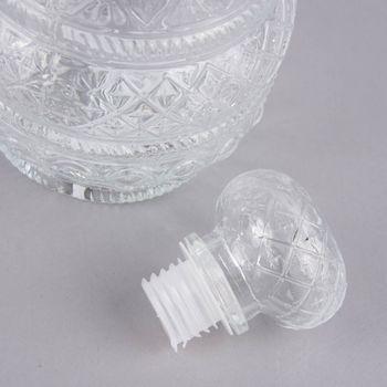 Deko Flasche mit Deckel Flacon Glas 11x27cm – Bild 3