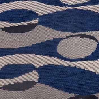SCHÖNER LEBEN. Wendekissen mit Keder und Federfüllung Wellen Kreise blau 30x50cm – Bild 4