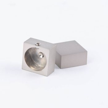 Serie Boston Endstücke End Design 18x18 2 Stück Profil edelstahl-optik – Bild 1