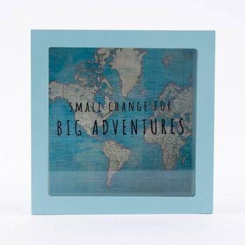 Spardose Big Adventures 16x16x6,5cm – Bild 1