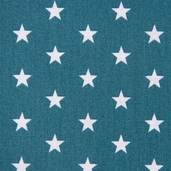 Baumwollstoff Mini Sterne petrol weiß 1,40m Breite – Bild 2