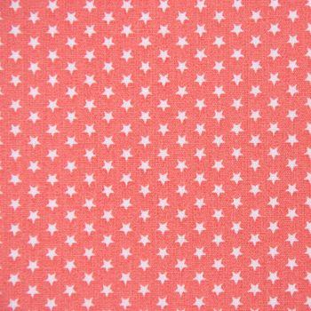 Baumwollstoff Mini Sterne koralle weiß 1,40m Breite – Bild 1