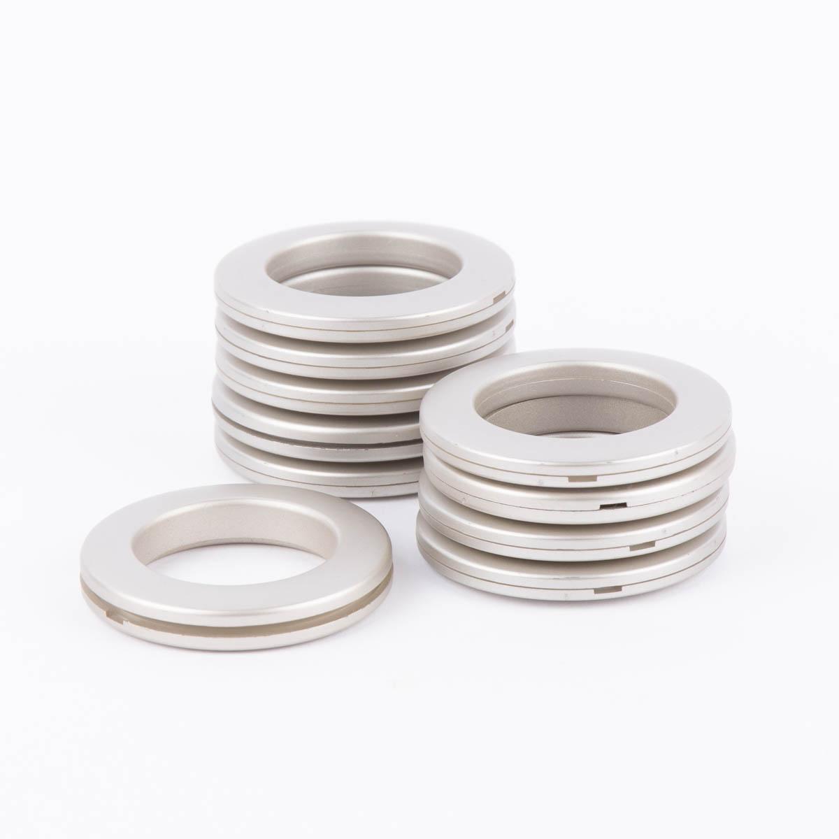 Gardinenösen Ösen für alle Stoffe edelstahl 10 Stück Stoffloch 40mm