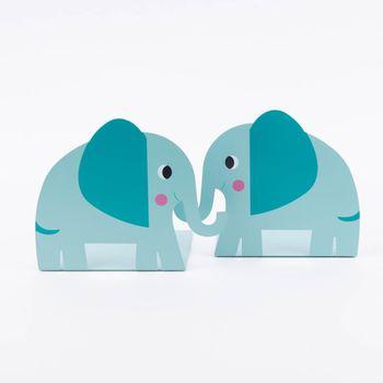 Buchstützen Elvis der Elefant 2er Set 13x18x14,5cm – Bild 1