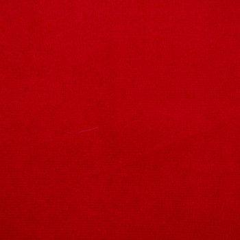 Samtstoff Dekostoff Italian Velvet Samt rot 1,45cm – Bild 2