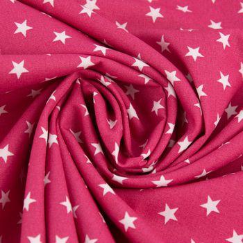 Baumwollstoff Sterne pink weiß 1,40m Breite – Bild 4