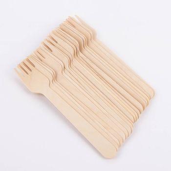 Gabeln Holz 20 Stück 16x3cm – Bild 1