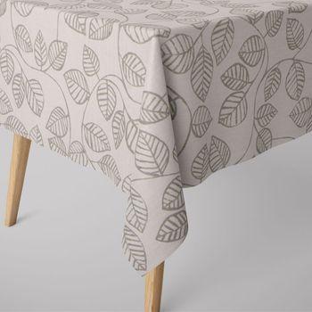 Dekostoff Baumwollstoff Caracus mit Blätter-Rankenmuster grau ecru 1,4m Breite – Bild 14
