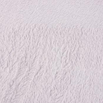 Wellness Fleece Stoff Meterware hellgrau 1,45m Breite – Bild 2