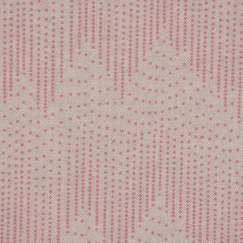 Gardinenstoff Stoff Dekostoff Chevron Zacken Punkte natur rosa 1,40m Breite – Bild 1
