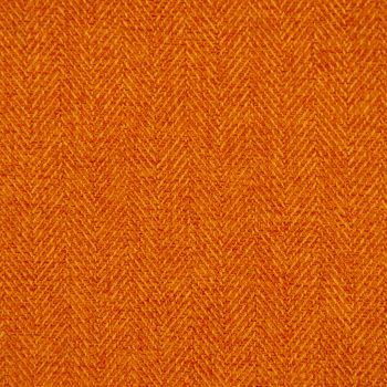 Gardinenstoff Stoff Dekostoff Herringbone Fischgrätmuster Streifen orange meliert 1,40m Breite – Bild 1