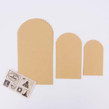 Briefumschlag Set 6 Stück Papier hellbraun versch. Größen – Bild 1